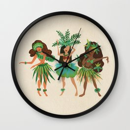 Luau Girls Wall Clock