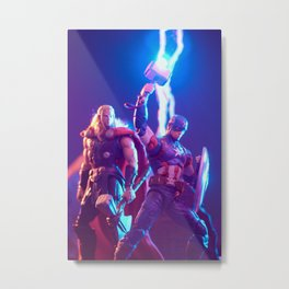 Worthy Captain and God of Thunder Metal Print