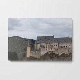 Vianden Castle Metal Print