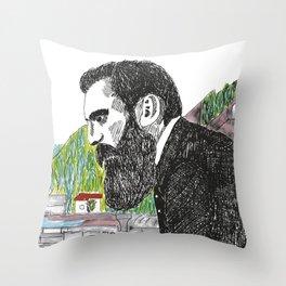 Theodor Herzl - Basel Throw Pillow