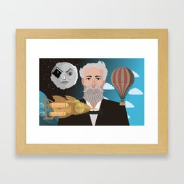jules verne science fiction retro writer Framed Art Print