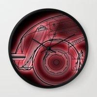 neon Wall Clocks featuring Neon by Fernando Vieira