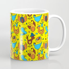 Crazy Birds Coffee Mug