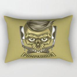 Pompadour, Hair Cut, Men, Skull, Hair Fashion Rectangular Pillow