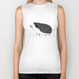 Monochrome Hedgehog Biker Tank