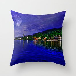 Lake Schliersee Germany Throw Pillow