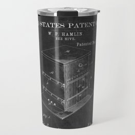 Beehive Patent with Bees Travel Mug