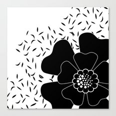 Abstract flower . Black and white . Canvas Print