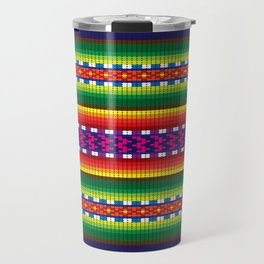 Colorful Woven South American Pattern Travel Mug