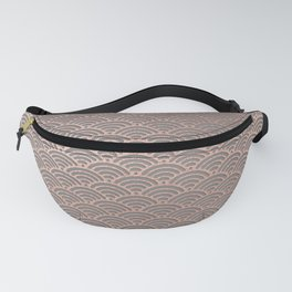 Rose gold mermaid pattern-on gray background Fanny Pack