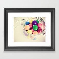 Bubble Gum Delight Framed Art Print
