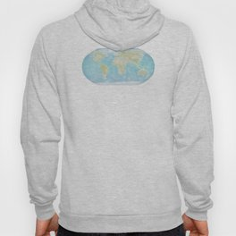 Minimalist Physical Map of the World Hoody
