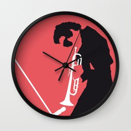 No082 MY Miles Minimal Music poster Wall Clock