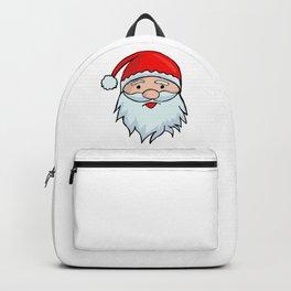 Santa Claus Face - Christmas Xmas Winter Backpack