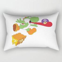 Tripped Out Yoshi Rectangular Pillow