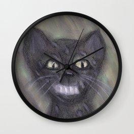 Black Leopard Cub Wall Clock