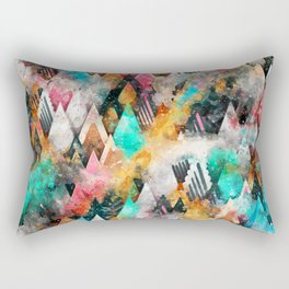 Abstract Triangles Rectangular Pillow