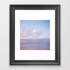 calm day ver.pink Framed Art Print