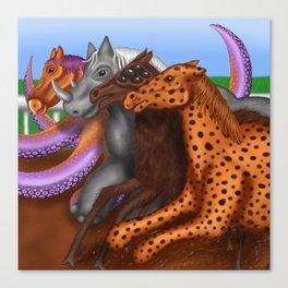 """CRISPR Race"" by Garrett Dare Canvas Print"