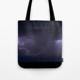 Summer Lightning Storm On The Prairie IV - Nature Landscape Tote Bag