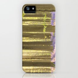 Blooming bluebell forest of Hallerbos in Belgium in morning sunlight iPhone Case