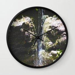 Rainbow Waterfall Wall Clock