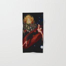 Stars & Moon (Portrait of my Crazy Sister) by Florine Stettheimer Hand & Bath Towel