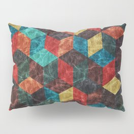 Colorful Isometric Cubes Pillow Sham
