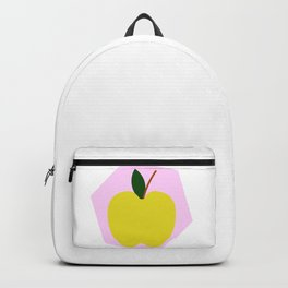 Yellow Apple Background Backpack