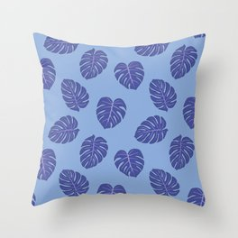 Monstera trendy - purple Throw Pillow