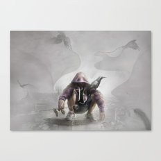 The Crow of Zagreb Canvas Print