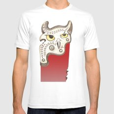 Five MEDIUM White Mens Fitted Tee