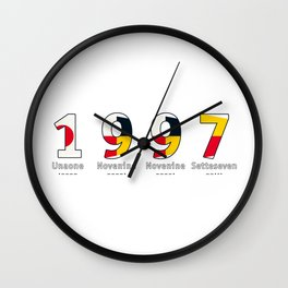 1997 - NAVY - My Year of Birth Wall Clock