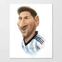 argentina Canvas Prints featuring Messi - Argentina by Sant Toscanni