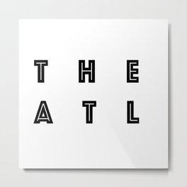 The ATL Atlanta City Typography Metal Print