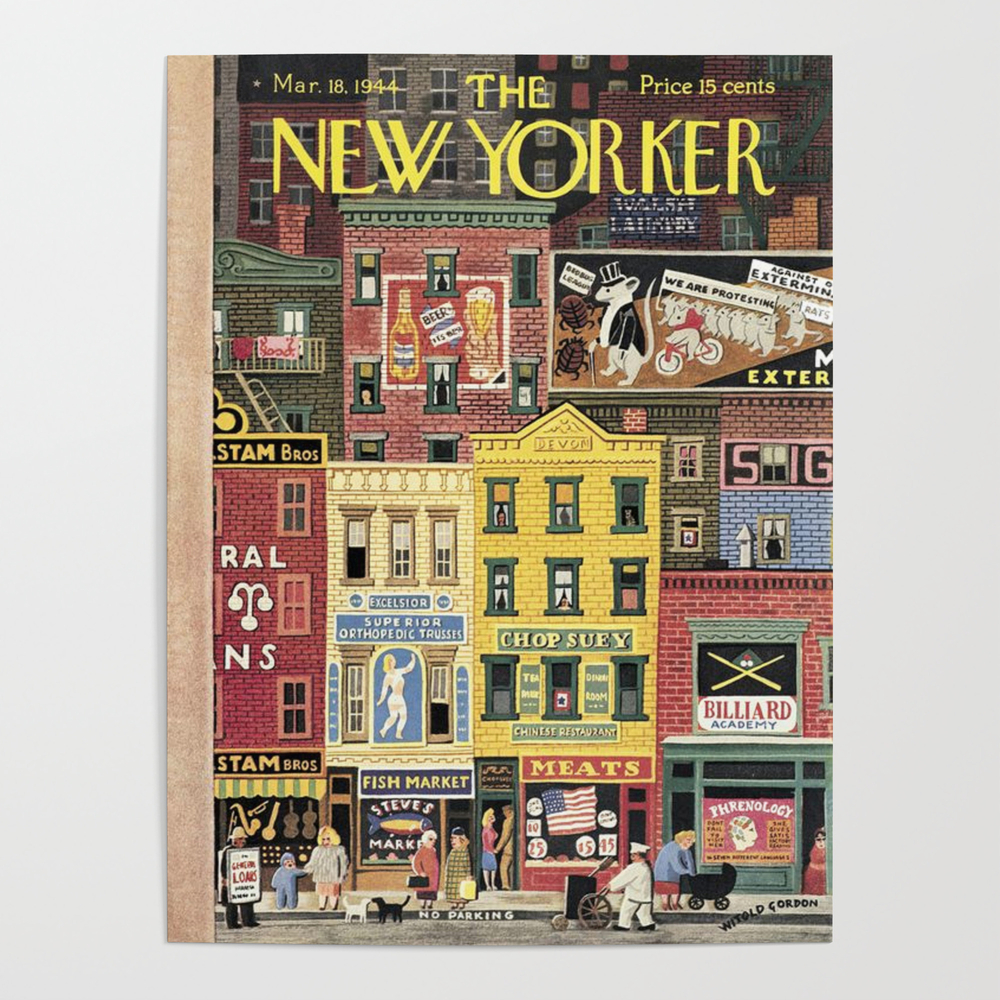 The New Yorker Magazine Cover Poster by navi107