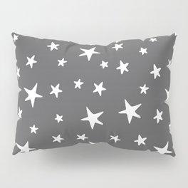 Stars - White on Gray Pillow Sham
