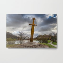 Sword of Llanberis Snowdonia Metal Print