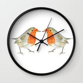 The 2 Robins Wall Clock