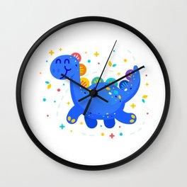 Fantasy Cute Dino Brontosaurus Wall Clock