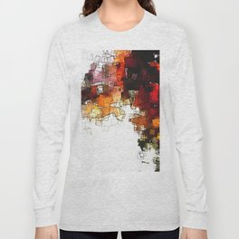 Orange Nordic / Scandinavian Art in Abstract Style Long Sleeve T-shirt