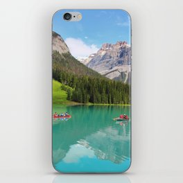 Boats on Emerald Lake iPhone Skin