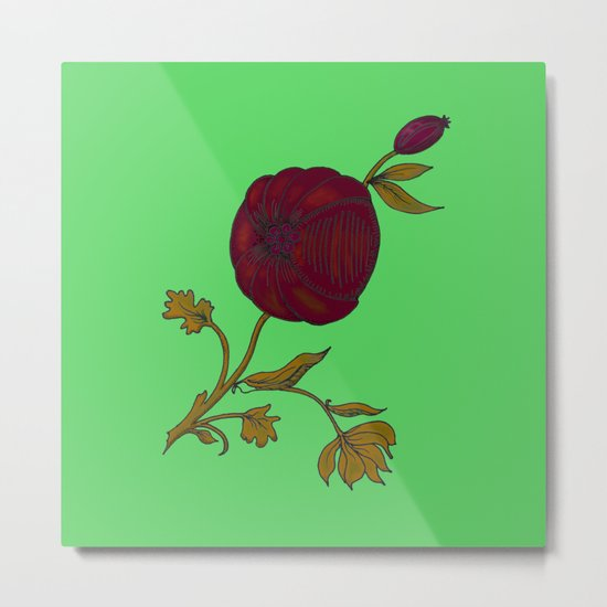 simple decorative pomegranate Metal Print