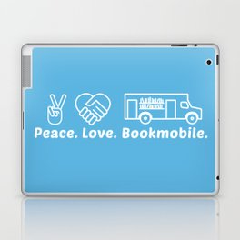 Peace Love Bookmoble Laptop & iPad Skin