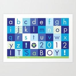 Alphabet_It's a boy_BABY BLUES 2012 Art Print