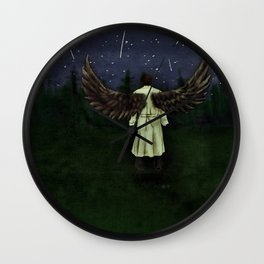 Angels Are Falling Wall Clock