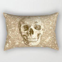 Modern sparkling Skull C Rectangular Pillow