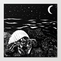 crab Canvas Prints featuring Crab by Megan Spencer