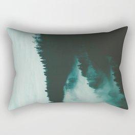 Fog Meets Hills Rectangular Pillow
