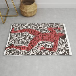 Into 84 after Keith Haring Rug